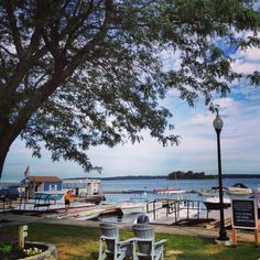 View of the St. Lawrence River from Clayton, NY