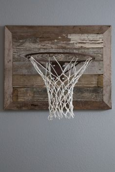 """Rustic basketball goal - how cool! As seen on HGTV's """"Fixer Upper."""" Perfect for a boy's bedroom!"""