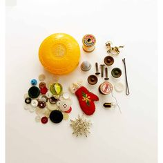 Lot of Junk Drawer Finds Jewelry Brooches Buttons Bobbins Knobs... ($8) ❤ liked on Polyvore featuring home, home decor, decorative hardware, cabinet pull knobs, paris home decor, drawer pulls knobs, lid knob and parisian home decor