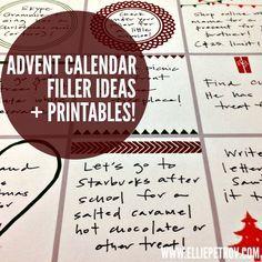 Advent Calendar Filler Ideas And Printables Advent Calendar Fillers Advent Calendar Gifts Christmas Advent Calendar