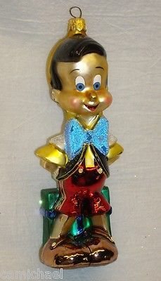 VINTAGE RADKO /DISNEY CHRISTMAS ORNAMENT: PINOCCHIO – Limited Edition 96-DIS-09 « WooHooYeah