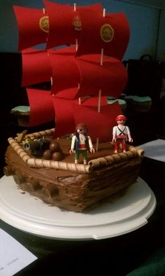Pirate Ship Cake Recipe Comments | Pirate Party Themes | FamilyFun
