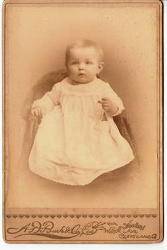 Cabinet Card Alert Infant Sitting IN A Chair A D Burk CO Cleveland | eBay