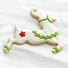 decorated reindeer sugar cookies | Blitzen: Fondant Blitzen is lightning-fast, and so is this decorating ...