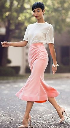 White And Pink Chic Style #Fashionistas