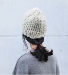 Thick knit hat for FW