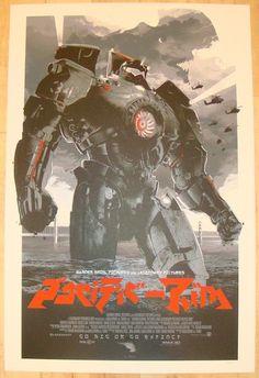 "2013 ""Pacific Rim"" - Silkscreen Movie Poster by Domaradzki"