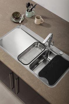 ... Franke Sinos SNX251 undermount sink and Sinos tap in silk steel LR