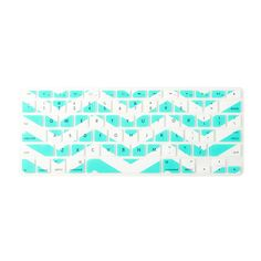 Mint and White Chevron Stripe Silicone MacBook Keyboard Cover | Claire's