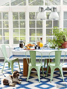 table and chairs for sunroom
