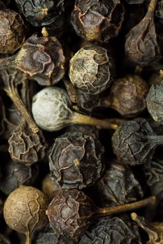 Indonesian dried cubeb berries... Looks at all the shades and colors.