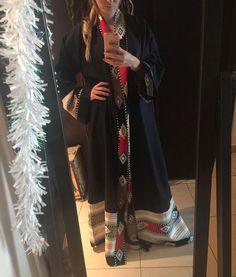Navy Blue abaya by OC fashion design . Price 550 Aed