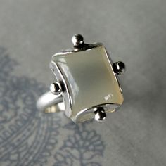 Moonstone Cocktail Ring Sterling Silver by KiraFerrer on Etsy, $125.00