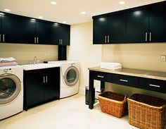 contemporary laundry room | contemporary laundry room canadian house and home modern laundry room ...