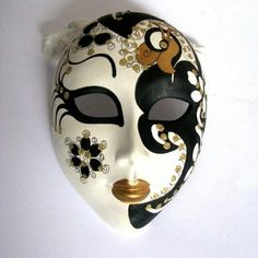 Your place to buy and sell all things handmade Party Face Masks, Ceramic Mask, Art Costume, Paisley, Vintage Gifts, Handmade Crafts, Swirls, Special Gifts, Mask Ideas
