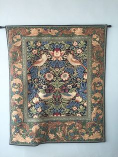 Strawberry Thief Blue Wall Tapestry / William Morris Design/ Tapestry/ By…