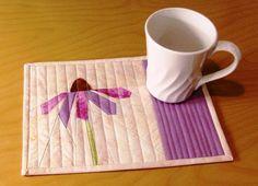 PURPLE CONE FLOWER Mug Rug-Paper Pieced   Craftsy