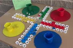 parchis con materiales reciclados