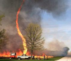 Fire Tornado in Missouri