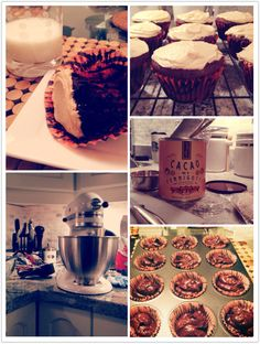 Chocolate Peanut Butter Cupcakes........the  test batch.