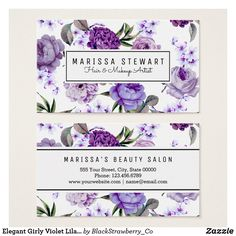 36 Ideas For Business Cars Design Floral Flower Floral Flowers, Purple Flowers, Free Printable Business Cards, Cake Logo Design, Nail Logo, Boutique Logo, Free Digital Scrapbooking, Branding, Grafik Design