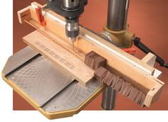 AW Extra 12/20/12 - 11 Drill Press Tips - Woodworking Shop - American Woodworker CRIBBAGE BOARD plus a lot of other great ideas for the drill press