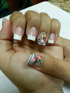 70 Trendy Spring Nail Designs are so perfect for this season Hope they can inspire you and read the article to get the gallery. Pretty Nail Art, Cute Nail Art, Nail Designs Spring, Nail Art Designs, Nagellack Design, Nails Only, Fancy Nails, Mo S, Flower Nails