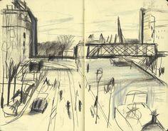 Yann Kebbi: watch your back Voyage Sketchbook, Artist Sketchbook, Sketchbook Pages, Drawing Sketches, Art Drawings, Sketching, Nursery Drawings, Relationship Drawings, Notebook Sketches