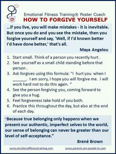 Forgive yourself! Move on.