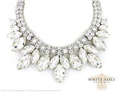 Crystal Bridal Jewelry Set, Vintage Inspired Bridal Necklace, Rhinestone Statement Necklace, Chunky Necklace, Wedding Jewelry