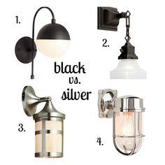 Lighting options via Keep It Beautiful Designs