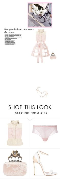 """""""what a night to fly my kite on"""" by luisa-vic ❤ liked on Polyvore featuring Delpozo, La Perla, Alexander McQueen and Casadei"""