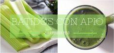 Estos batidos verdes con apio son una maravilla. Con ellos conseguirás adelgazar de forma saludable y depurar tu organismo. ¡A qué esperas para probarlos!