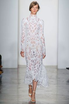 And speaking of Tulum, the bride could definitely wear long-sleeve white macrame Simkhai for a very chic evening beachside affair. A new category for the designer, perhaps? —Kerry Pieri   - HarpersBAZAAR.com