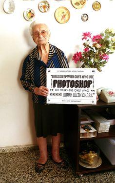 Danke Nerdcore! Chacho Puebla hat seine Oma wieder mit Tipps zum Umgang mit sozialem Netzkram abgelichtet.