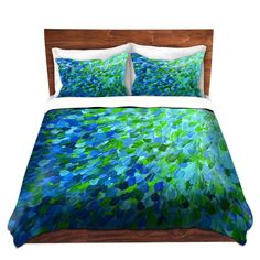 Settle in tonight with one of our made-to-order Ebi Emporium Fine Art Premium Woven Duvet Covers.  BEACHY Fine Art Duvet Covers, King Queen Twin Size Whimsical Home Decor Ombre Bedding Ocean Splash Turquoise Aqua Blue Green Floral Bedroom $275.00