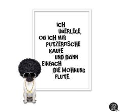"""Digitaldruck - Typo Poster """"Fische."""" (DIN A4) - ein Designerstück von funiberlin bei DaWanda"""