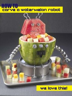 How to Carve a Watermelon Robot - Spaceships and Laser Beams