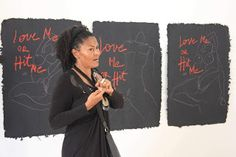Bisi Silva explaining a point to guests at 'The Progress of Love' Valerie Oka's art exhibition The Progress of Love, one i. Perspective, Contemporary Art, Africa, Bring It On, Love, Artist, Amor, Perspective Photography, Artists