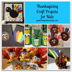 Thanksgiving Craft Projects for Kids #thanksgivingcrafts #thanksgivingcraftsforkids #yesterdayontuesday