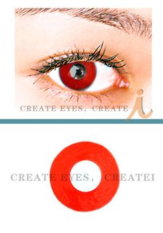 50580183682 Release your fury with these seductive lenses purr ♥ Devil Red Crazy  Cosmetic Contact Lenses HeavenlyCreates