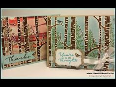 Tina Zinck - The Serene Stamper - Woodland Embossing Folder Technique - (Pin: Embossing/ Dry. Card Making Tips, Card Making Tutorials, Card Making Techniques, Making Ideas, Tarjetas Stampin Up, Stampin Up Cards, Altenew Cards, Fall Cards, Christmas Cards