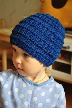 Knitting hat for men kids 25 ideas Beanie Knitting Patterns Free, Baby Sweater Knitting Pattern, Baby Hats Knitting, Beanie Pattern, Loom Knitting, Crochet Patterns, Knitted Hats Kids, Kids Hats, Sweaters Knitted