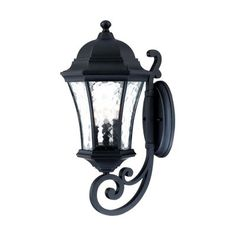 Acclaim Lighting Waverly H Matte Black Candelabra Base Outdoor Wall Light at Lowe's. Welcome guests with the beautiful Waverly collection of outdoor lighting. It's traditional styling that will complement any outdoor space. It's tapered, Outdoor Wall Mounted Lighting, Outdoor Barn Lighting, Outdoor Wall Lantern, Outdoor Wall Sconce, Outdoor Walls, Wall Mount Light Fixture, Light Fixtures, Led Exterior Lighting, Transitional Wall Sconces