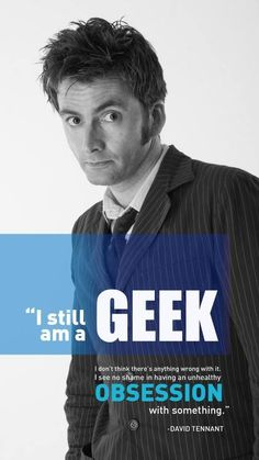 David Tennant talks about being a Geek... #DoctorWho