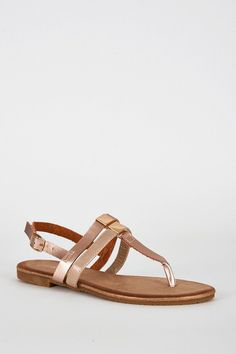 e75ab38f40e33 Burnt Orange T Bar Glitter Sole Sandal