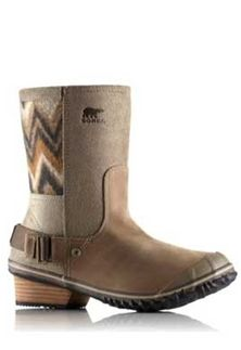 Sorel SlimShortie Chevron Leather Boots for Women NL2152-227