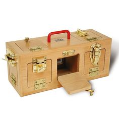 This Lock Station Activity Center & Dementia Loss Memory Game reinforces hand control, muscle strength & finger dexterity. It's superbly crafted solid hardwood lock box has 3 separate compartments, 10 doors & 10 different latches. Senior Activities, Work Activities, Motor Activities, Elderly Activities, Senior Games, Creative Activities, Creative Crafts, Diy Crafts, Dementia Care