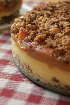 Homemade, yet simple Peach Cobbler Cheesecake!