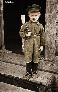Little Soviet boy ww2